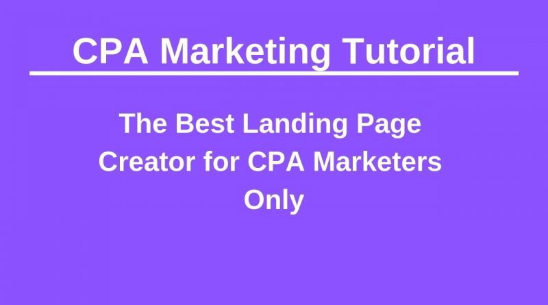 PureLander   Best Landing Page Creator for Only CPA Marketing Experts