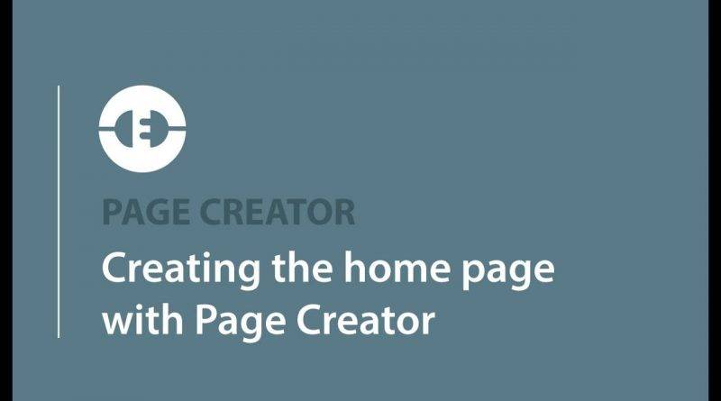 Creating the home page with Page Creator  | Adobe Muse and WordPress | MusexPress CMS