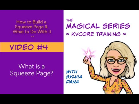 What is a Squeeze Page in kvCore?