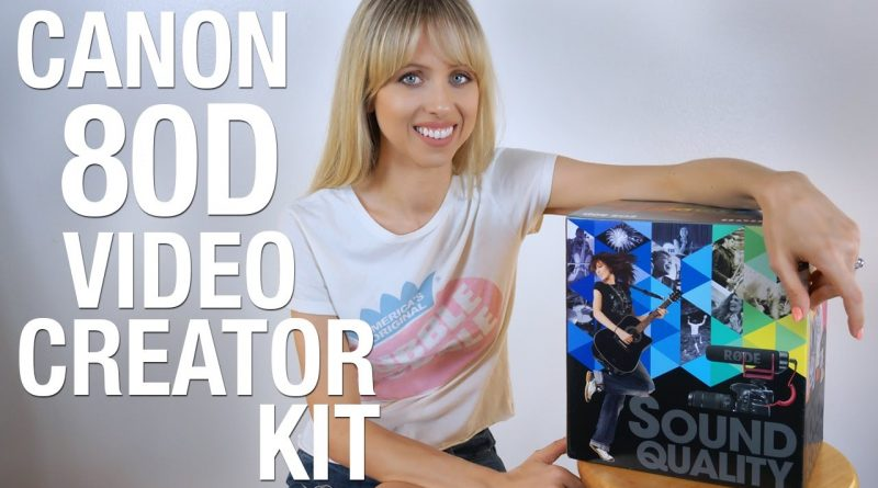 Canon 80D VIDEO CREATOR KIT unboxing! | Superholly